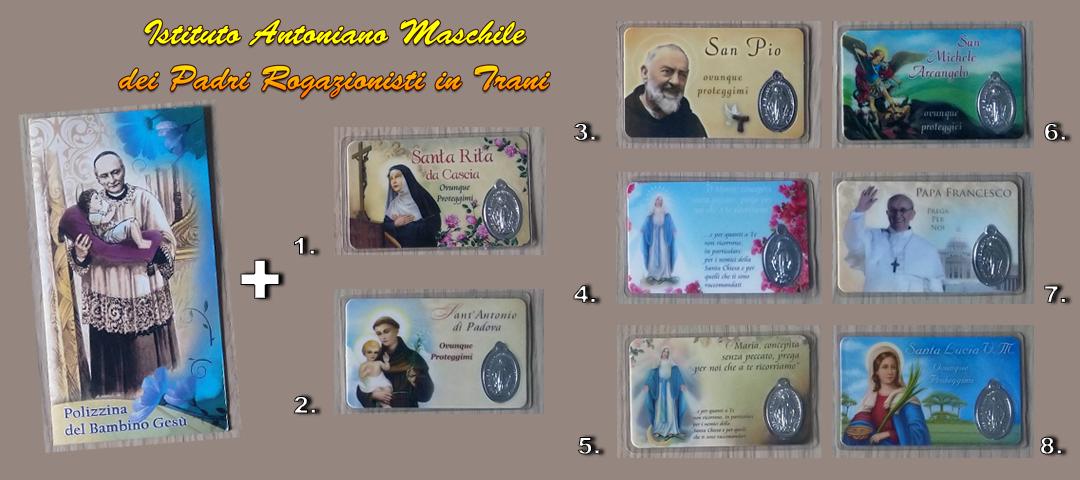 polizzina bambin gesu' + holy card